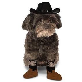 Disfraz Para Perro Boot Cuff Set Perro Del Traje De Vaquero