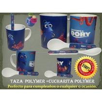 Tazas Buscando A Dory + Cucharita - Pepa Pig - Angry Birds