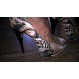 Sapato Plataforma Raro (onça) - Fernando Pires Salto 17cm