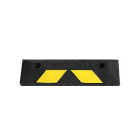 Tope De Estacionamiento Home Park 56 Cm Color Negro-amarllo!