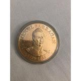 Moneda Presidentes De Mexico De Plata Chapada En Oro 24k