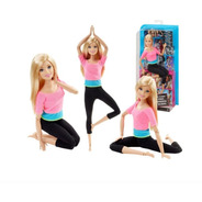 Boneca Barbie Articulada Loira Rosa Pink Top Made To Move