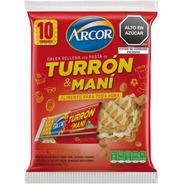 Turron De Mani Arcor Agupado X10 Unidades - Sabor Original