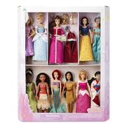 Set De 11 Muñecas Princesas Disney, Caja Edición De Lujo.