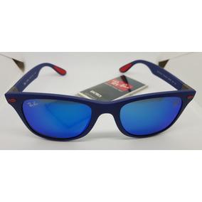 Óculos Wayfarer Azul Com Lente Azul Espelhada - Óculos no Mercado ... 26907db284
