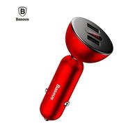 Carregador Veicular Dual 2 Usb Baseus 360 Display Digital