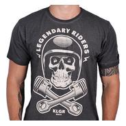 Camiseta Kallegari Legendary Riders Moto Caveira Pistão