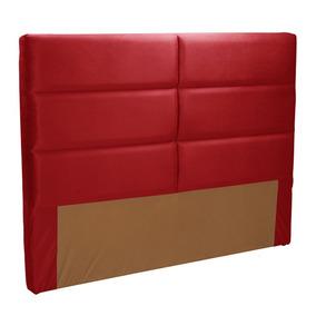 Cabeceira Casal Estofada Herval Mh 2681,vermelho, 138 Cm
