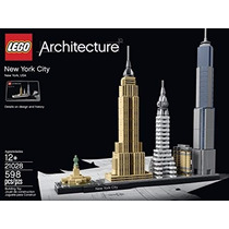Lego Architecture New York City Usa 598 Pz Modelo 21028