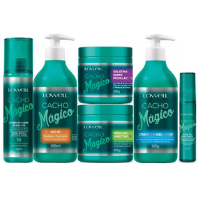 Lowell Cacho Mágico Shampoo, Máscara Kit + Pente - Low Poo