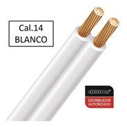 100mts. Cable Pot Duplex Cal. 14 Blanco Condulac 100% Cobre