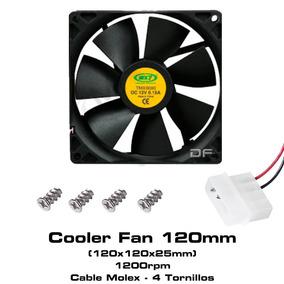 Cooler Fan Ventilador 12x12 120mm Gabinete Atx Negro Molex