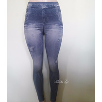 Linda Calça Legging Fake Jeans Feminina Academia Hot Pants