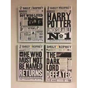 4 Cuadros Harry Potter Diarios S (cada Uno 20x28 Cm)