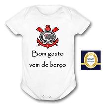 Body Bebe Corinthians Bom Gosto Vem De Berço Modelo Novo