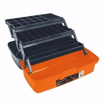Caja De Herramientas Para Pesca Camping Naranja Y Gris 10539