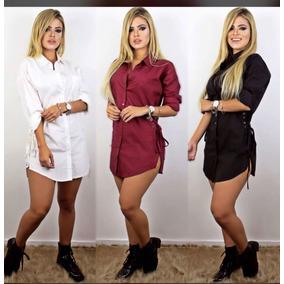 Camisetas Blusa Femininas Verao Manga Longa Vestidos Curto