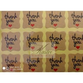 60stickers Thank You Gracias Boda Xv Años Bautizo Cumpleaños