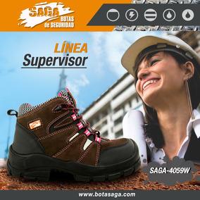 Bota De Seguridad Para Dama Saga 4059w Con Puntera Composite