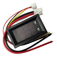 Voltimetro Amperimetro De Panel 99.9v 10a Display Rojo Azul