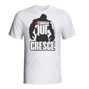 Camiseta Esmaga Que Cresce De Musculação Masculina