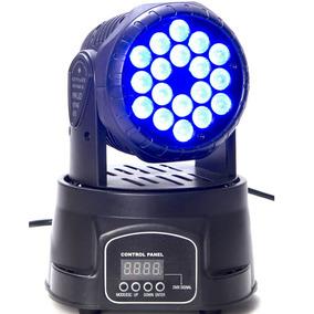 Iluminação Profissional Dj Mini Moving Head 18 Led 3w Triled