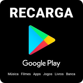 Recarga Google Play R$100,00, Cartão Play Store