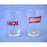 02 Calderetas Brahma E Skol - Copo Cerveja