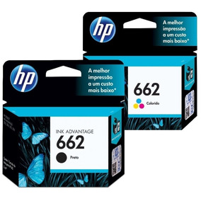 2 Cartuchos Originais Hp 662 Preto Color 2516 3516 1516 2546