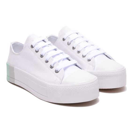 Zapatillas Mujer Blanca Sneaker Urbanas Plataforma Moda Stan