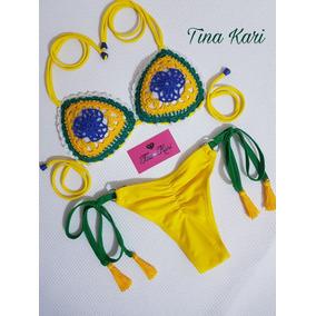 Biquini Fantasia Carnaval Moda 2019 Amarrar Ripple Tina Kari