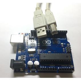 Arduino Uno Rev3 R3 Atmega328 Dip Com Cabo Usb Automação