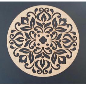 Quadro Mandala Escultura Parede Mdf Sem Pintura 5 Cm #01
