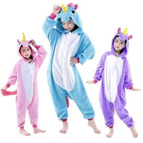 Pijama Unicornio Kigurumi Para Niños 3 Colores A Elegir