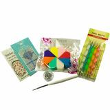 Kit Decoración Uñas Manicure Nail Art, Degradado Gemas Guias