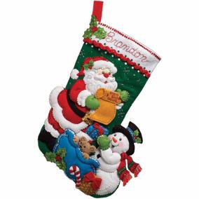 Bucilla Original. Bota Navideña Lista De Santa. Navidad