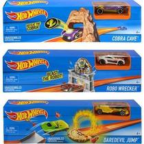 Set De Juego Pista C/auto ¡varios Modelos! Hot Wheels Jiujim