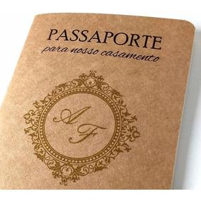 Convites Crativos | Casamento Noivado Passaporte Viagem