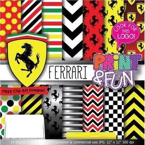 Kit Digital Editavel Scrapbook Digital Carro Ferrari