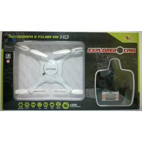 Drone Quadricóptero Explorer Câmera Hd 4 Canais 2,4g Branco