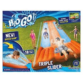 nueva inflable agua slide triple piscina parque infantil del