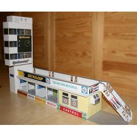 Pit Continental Box P/ Autorama 1/32 Dioramas D Papel