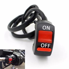 Interruptor On/off Guidão Moto Ligar Farol Auxiliar/milha