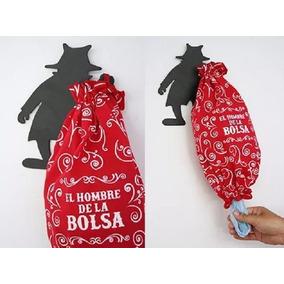 Dispenser Porta Bolsas Hombre De La Bolsa Con Cinta Bifaz
