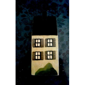 Casa De Madera Solida Decoración 21 * 8 Cms