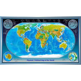 Lienzo Tela Canvas Mapa Mundo División Política 100 X 170 Cm