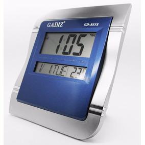 Reloj Digital De Pared Escritorio 25x22cm Gadiz Termometro
