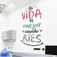 Vinilos Decorativos Dentistas Odontología   3 Colores Creatu