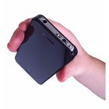 Arma De Choque Elétrico Formato Celular Iphone Black Defesa