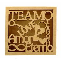 Caixa Te Amo - Love - 15x15x5 - Mdf Crú - Casamento - Ref08